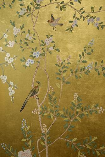 Behang de gournay chinoiserie historische behangsels for Oriental style wallpaper uk