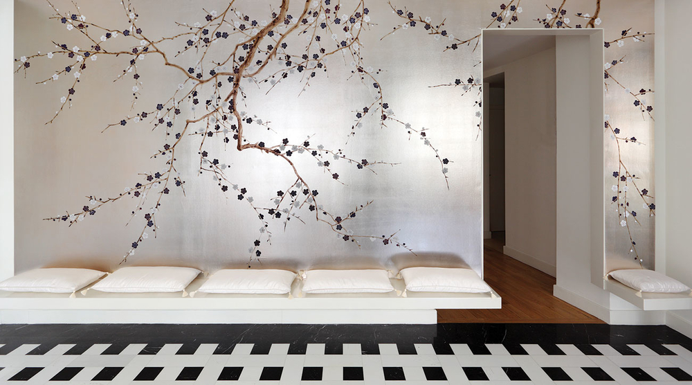 Behang de gournay japans en koreaans historische behangsels luxury by nature - Decoratie wallpaper eetkamer ...