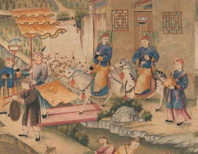 Chinoiserie Behang IKSEL Chinese Figuren en Architectuur